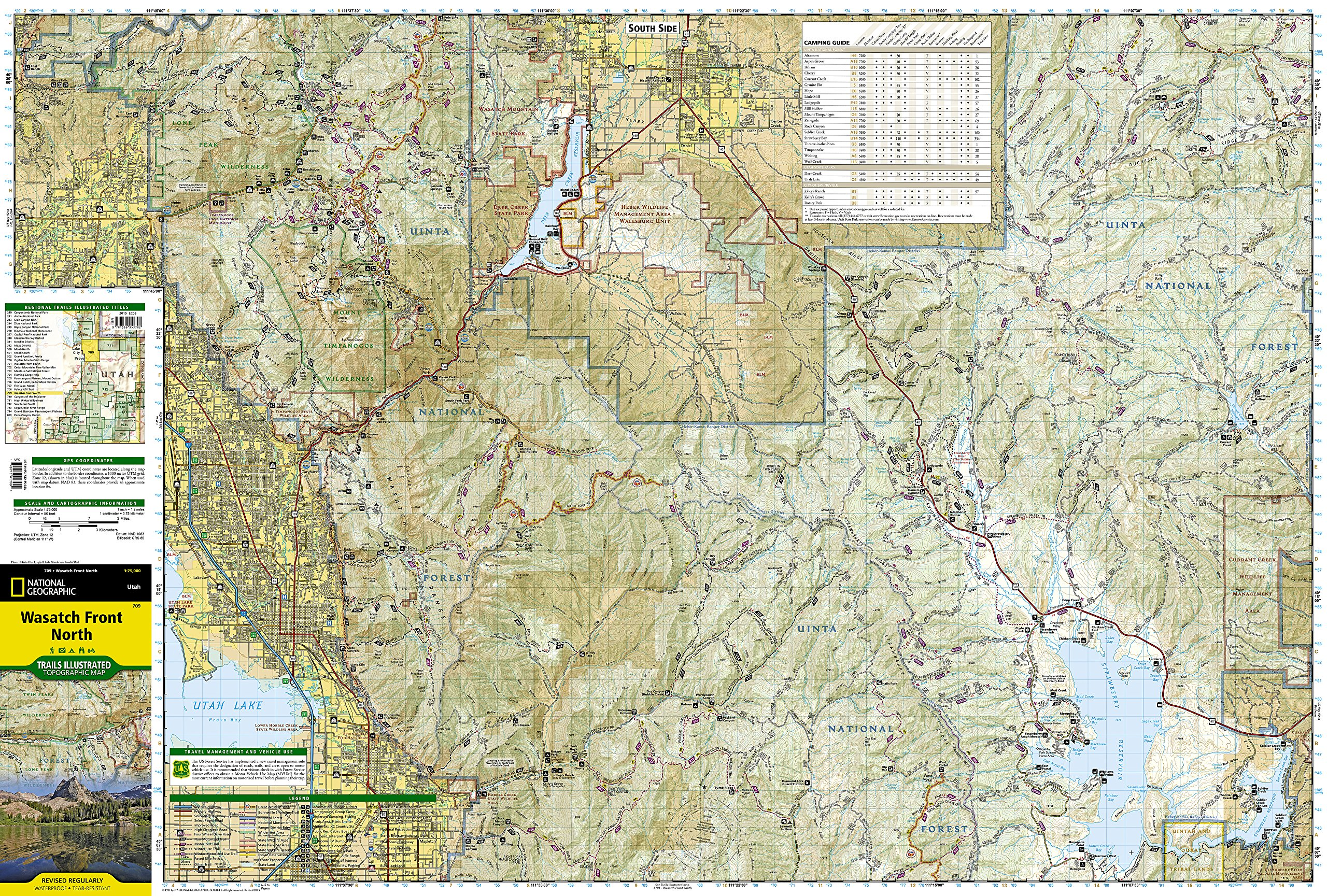 Wasatch Front North (National Geographic Trails Illustrated Map ...