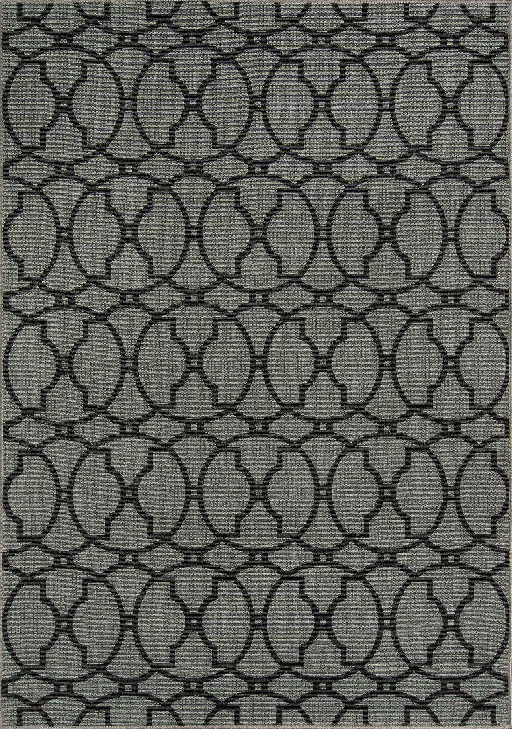 Nolita Rugs Renato Polypropylene Charcoal Indoor/Outdoor Rug 6'7'' X 9'6'' by Nolita Rugs