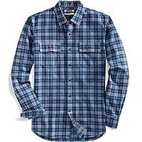 Goodthreads Men's Slim-Fit Long-Sleeve Multicolor Plaid Twill Shirt