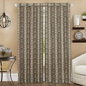 Achim Home Furnishings Python Grommet Window Curtain Panel, 52