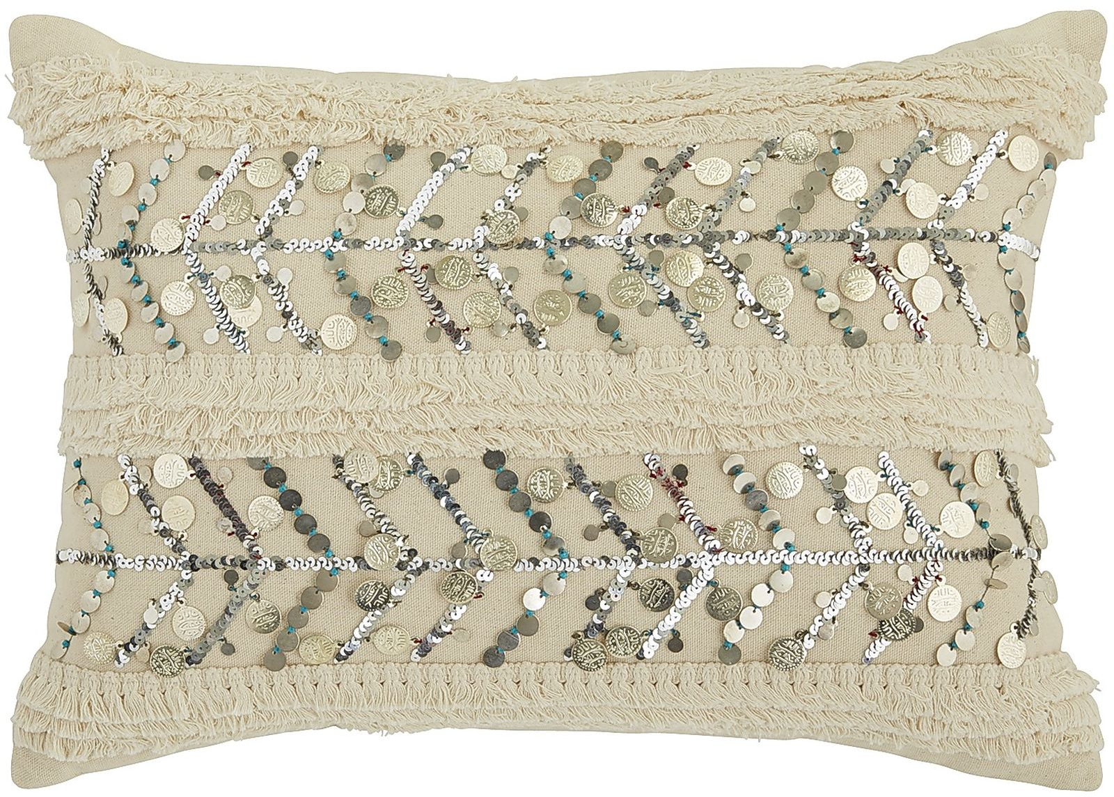 Boho Esmeralda Coin Pillow | Pier 1 Imports