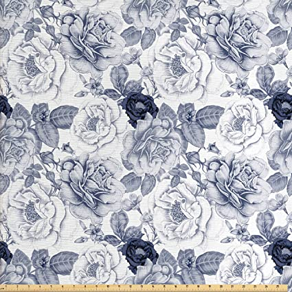 Amazoncom Ambesonne Shabby Chic Fabric By The Yard Garden Spring