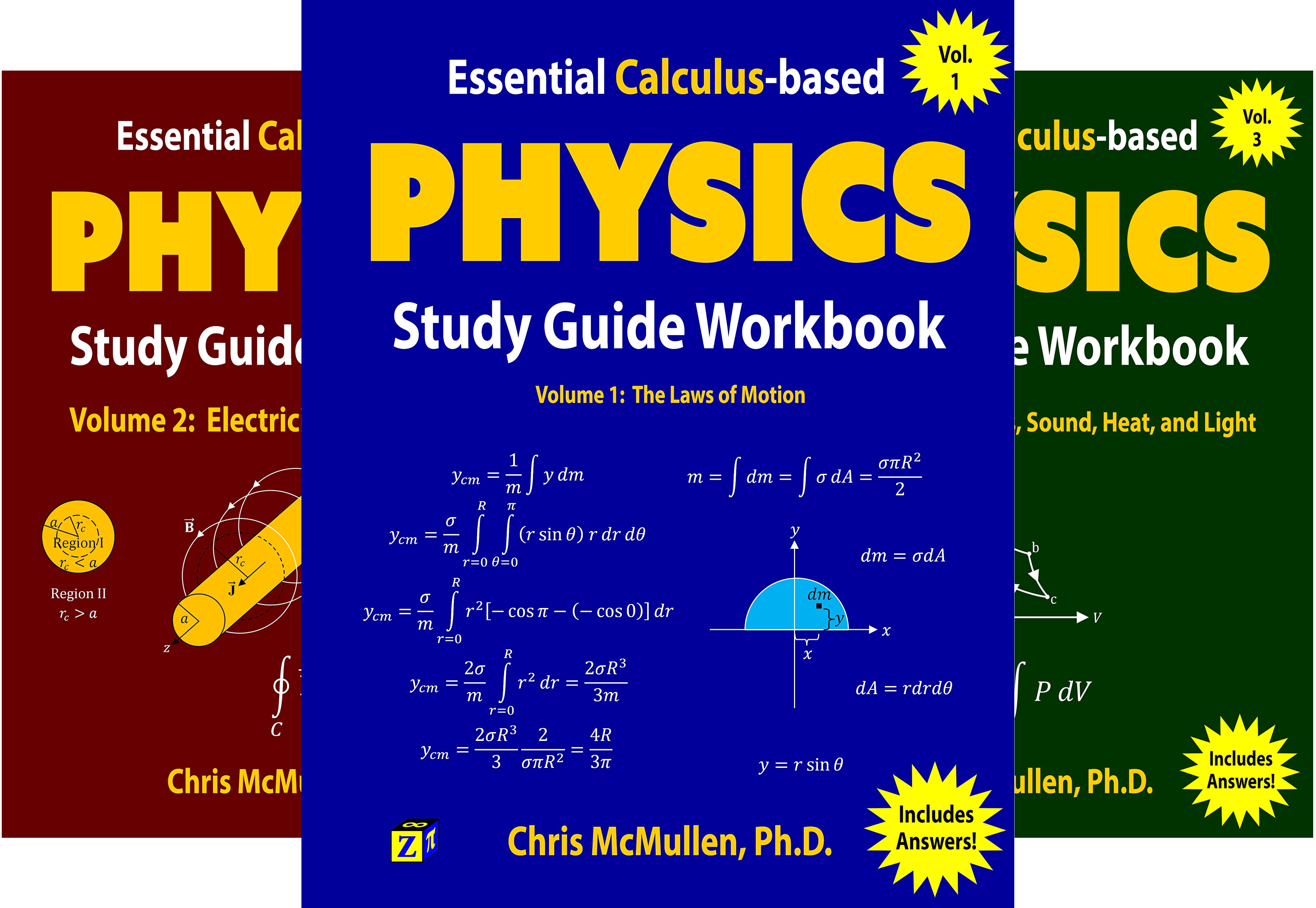 Learn Physics with Calculus Step-by-Step (3 Book Series)