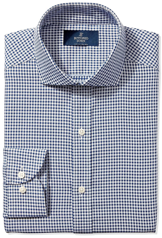 6bca6a7a Buttoned Down Men's Slim Fit Cutaway-Collar Textured Stripe Non-Iron Dress  Shirt MBD30019