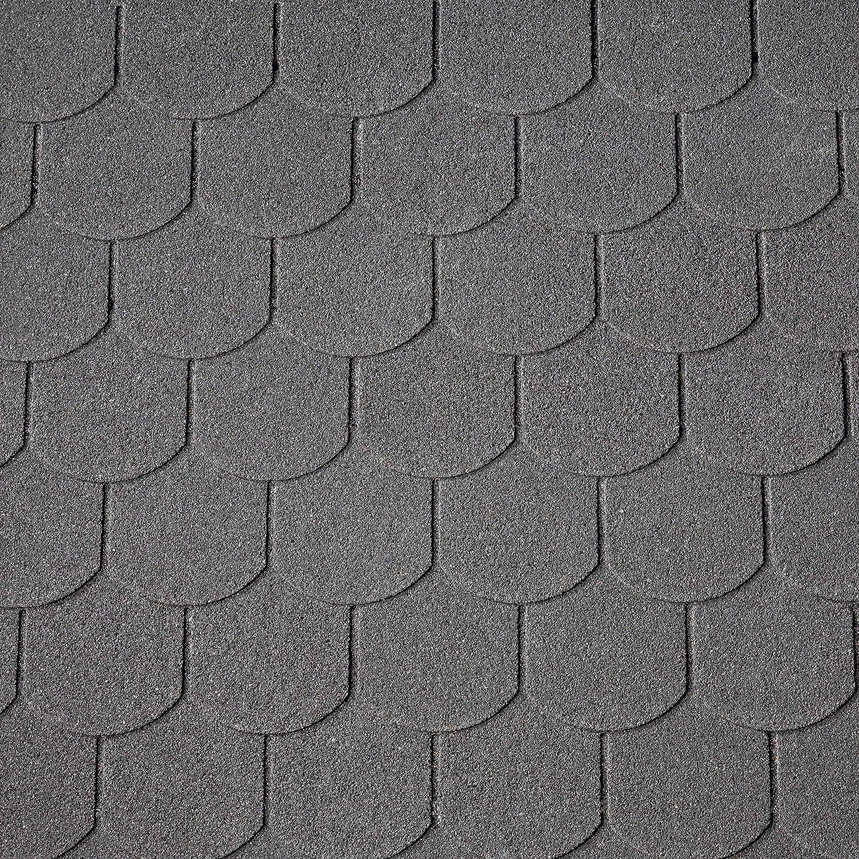 Gr/ün Dachschindeln Biberschwanz 3 m/² mit Glasvlieseinlage Bitumenschindeln Schindeln Biberschwanzschindeln