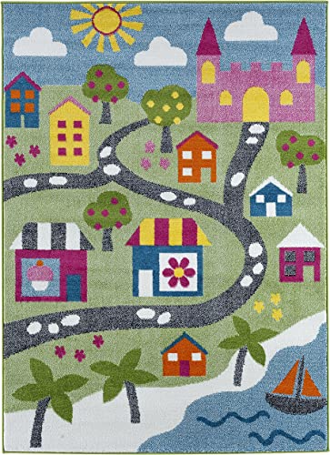 LR Home Whimsical Area Rug