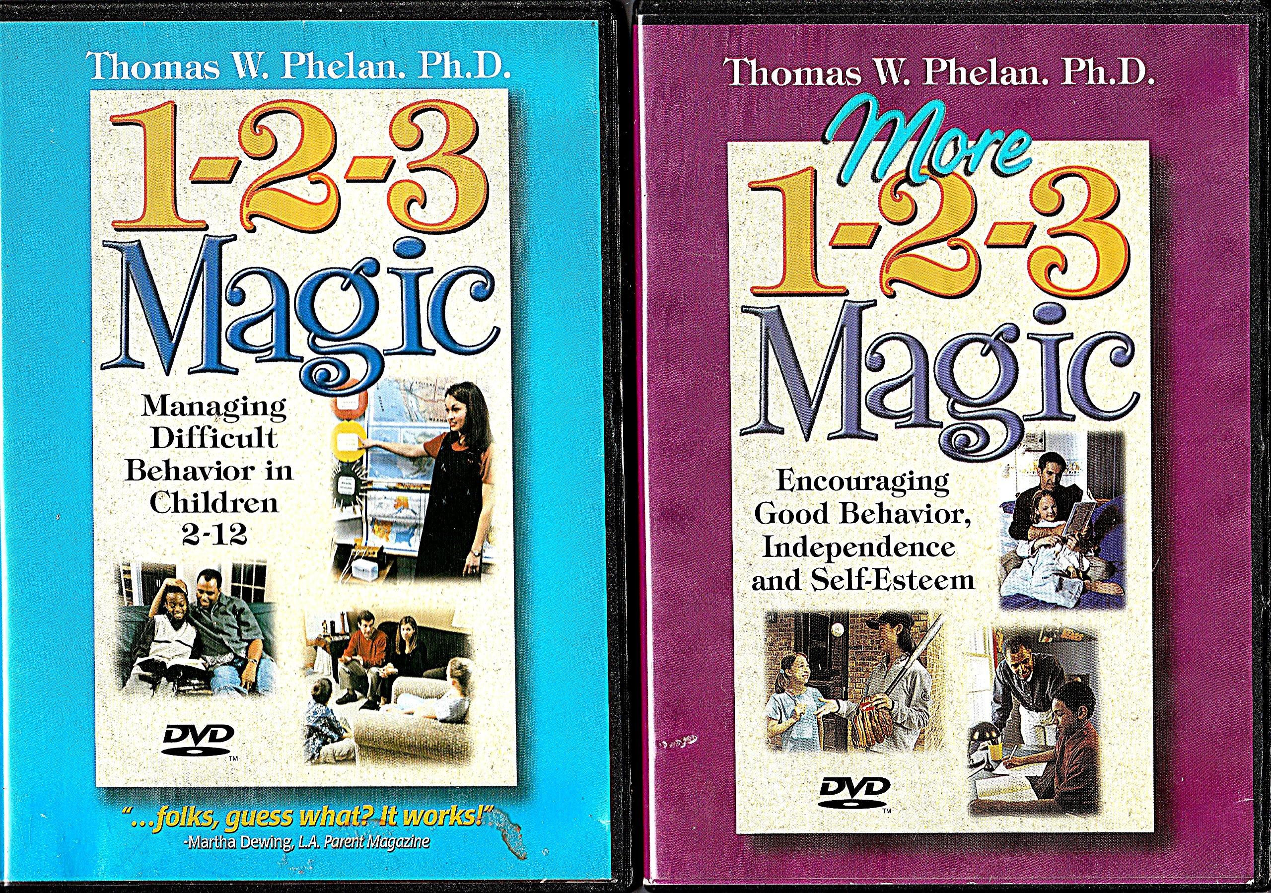 1-2-3 Magic - Managing Difficult Behavior in Children 2-12 (DVD) **PLUS**  More 1-2-3 Magic -- Encouraging Good Behavior, Independence and Self-Esteem  (DVD) ...