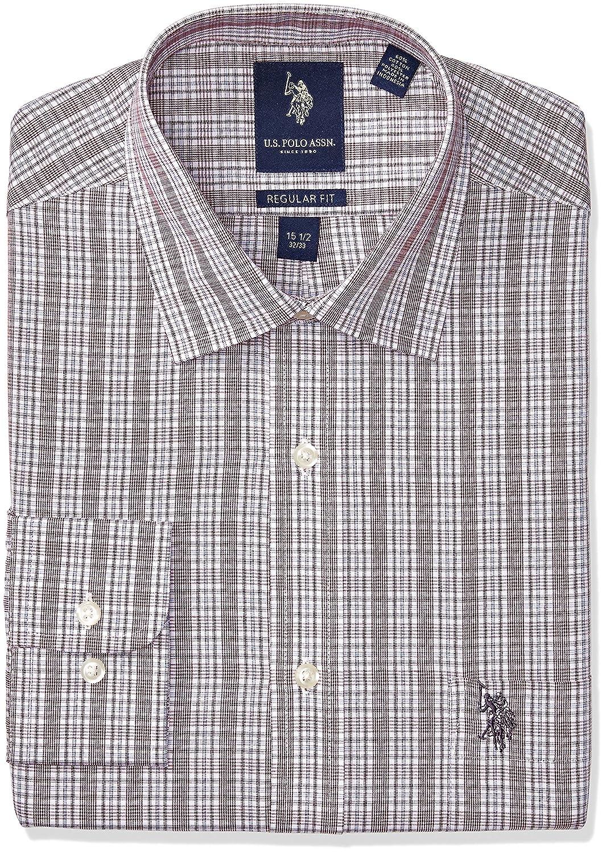 Paul Fredrick Mens Pinpoint Varsity Spread Button Cuff Dress Shirt
