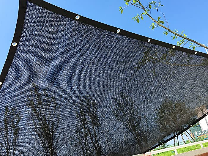 YGS Perfect Sunblock Shade Cloth With Grommets 70% UV 10 ft x 20 ft Black for Plant Cover Greenhouse Barn Kennel Pool Pergola or Swimming Pool