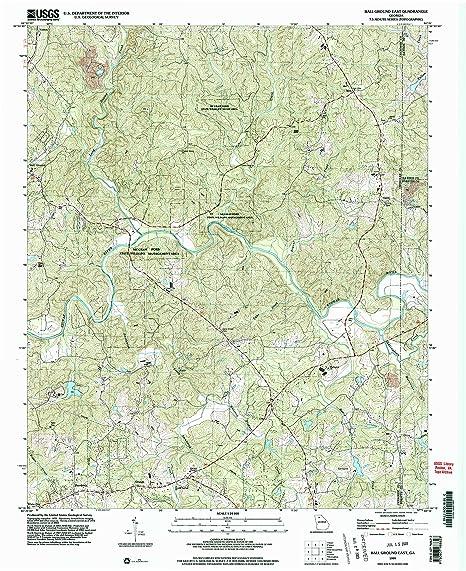 Amazon Com Yellowmaps Ball Ground East Ga Topo Map 1 24000 Scale