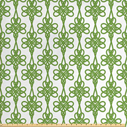 Amazoncom Ambesonne Celtic Decor Fabric By The Yard St Patricks