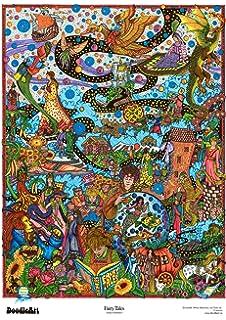 Amazon.com: The Original Doodle Art Flowers Adult Coloring Poster ...