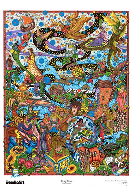 Amazon.com: The Original DoodleArt by PlaSmart - Fairy Tales, Adult ...