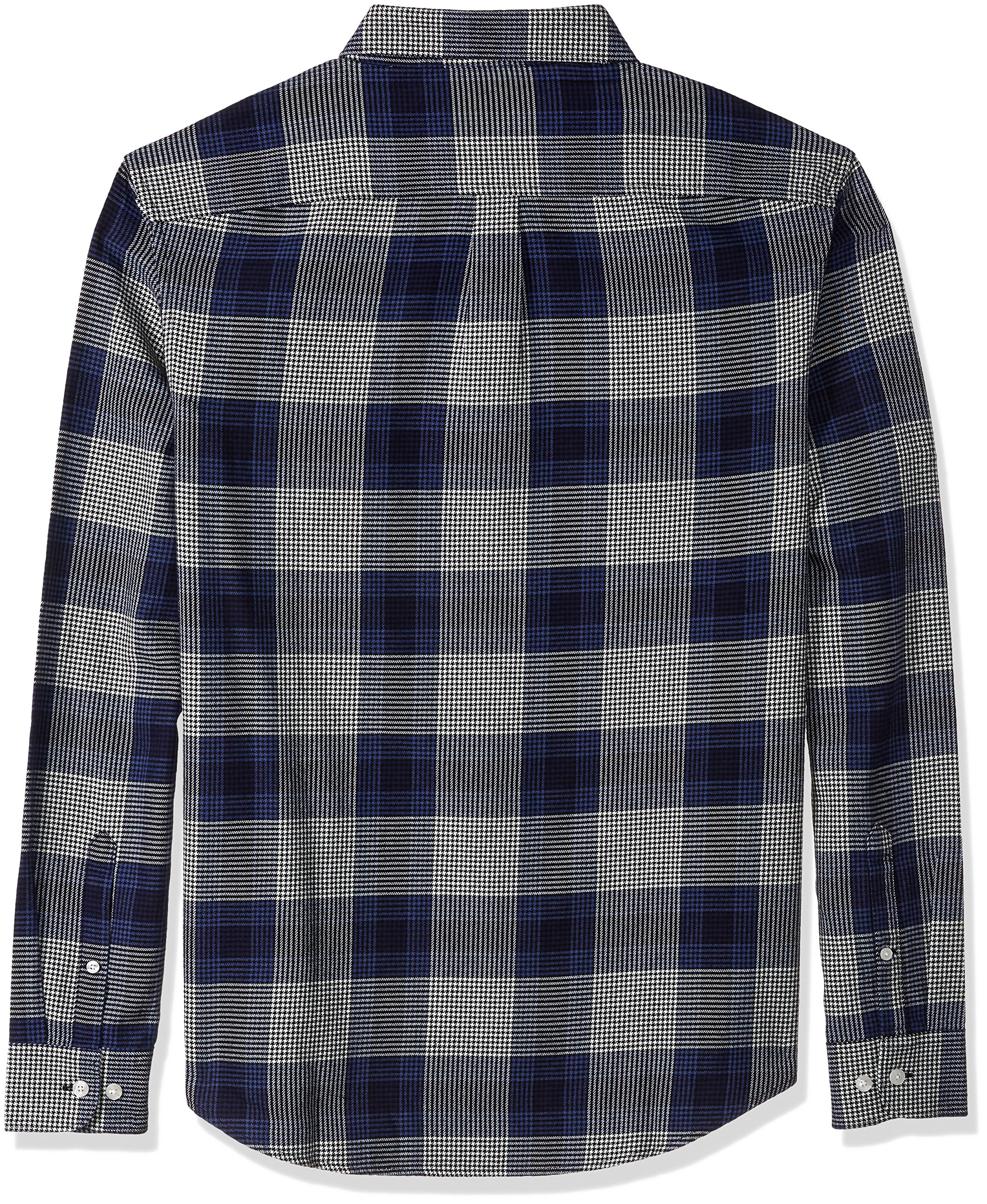 Original Penguin Men's Brushed Plaid Flannel Dress Shirt, Snorkel Blue, Large by Original Penguin (Image #2)