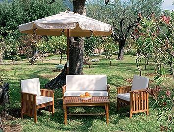 LuxuryGarden – Set de muebles para salón, sofá con sillones ...