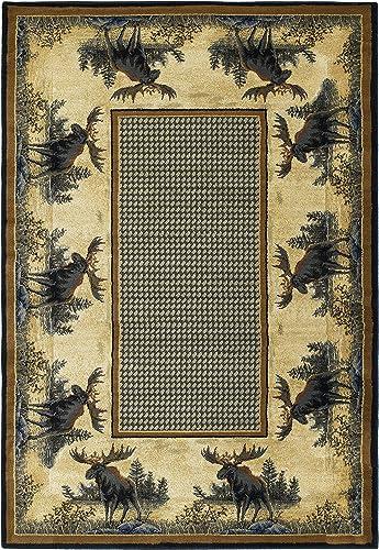 United Weavers of America Hautman Northwood Moose 7 10 x 10 6 Rug, Multicolor, Oversize