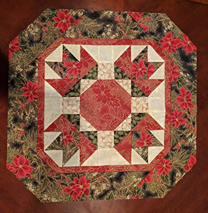 Winter Floral Table Topper Quilt Kit Pattern Moda Let It Glow Metallic Fabri