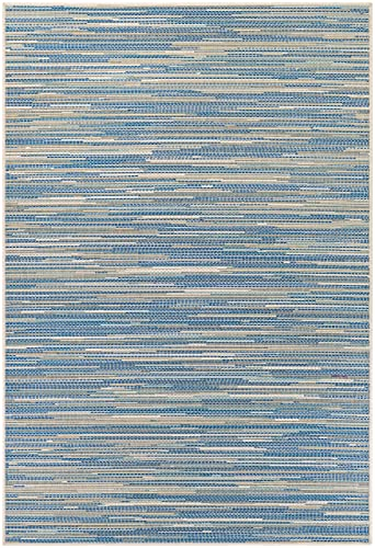 Couristan Monaco Collection Alassio Rug, Sand Azure Turquoise, 5 by 8-Feet