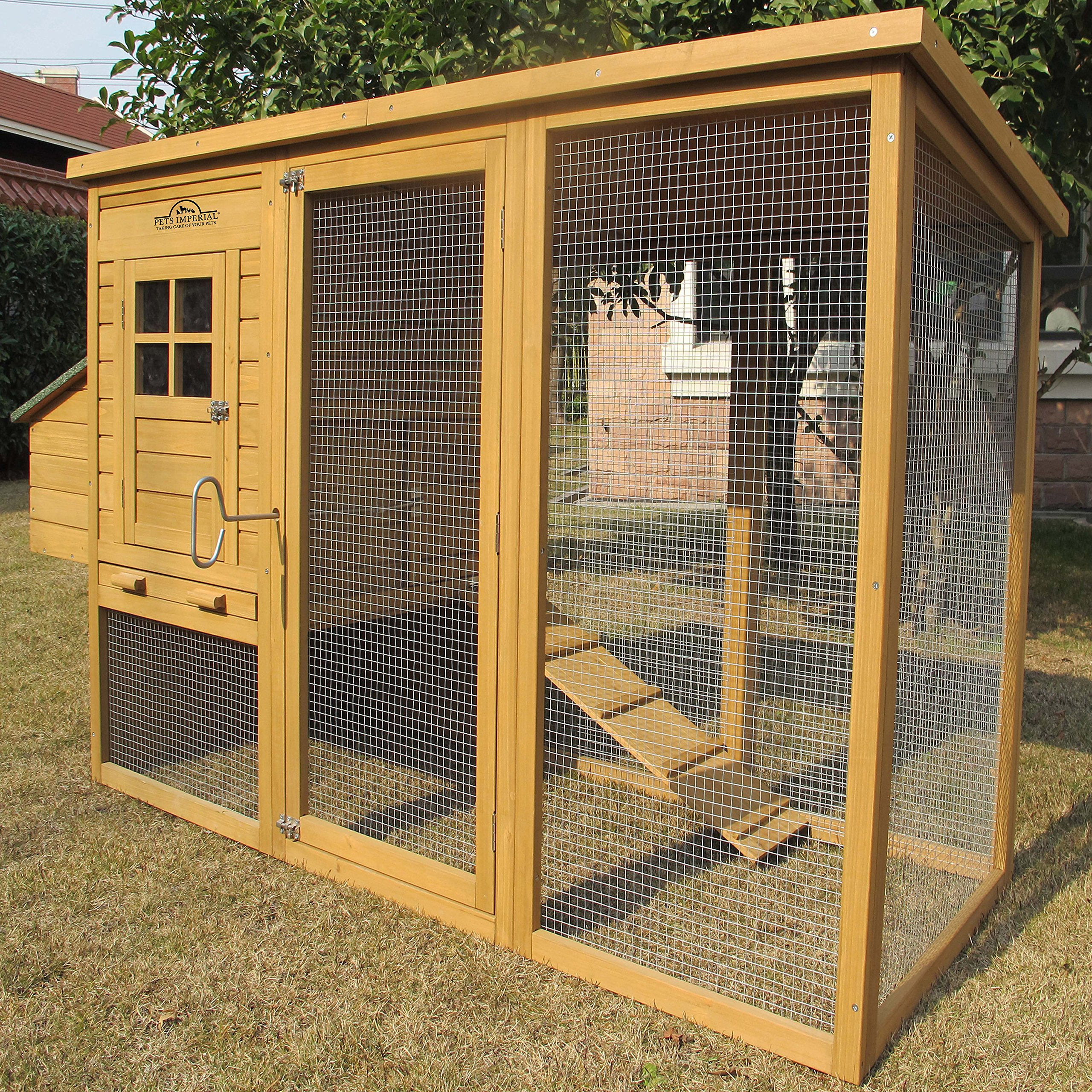 Pets Imperial Monmouth Large Chicken Coop 6ft 7'' in Length With Roof That Opens Suitable For Up To 4 Birds