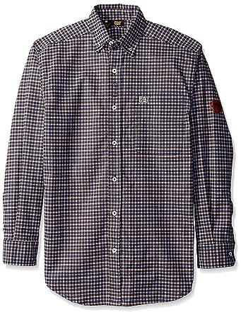 555ff4a385f3 Amazon.com  Caterpillar Men s Flame Resistant Plaid Shirt  Clothing