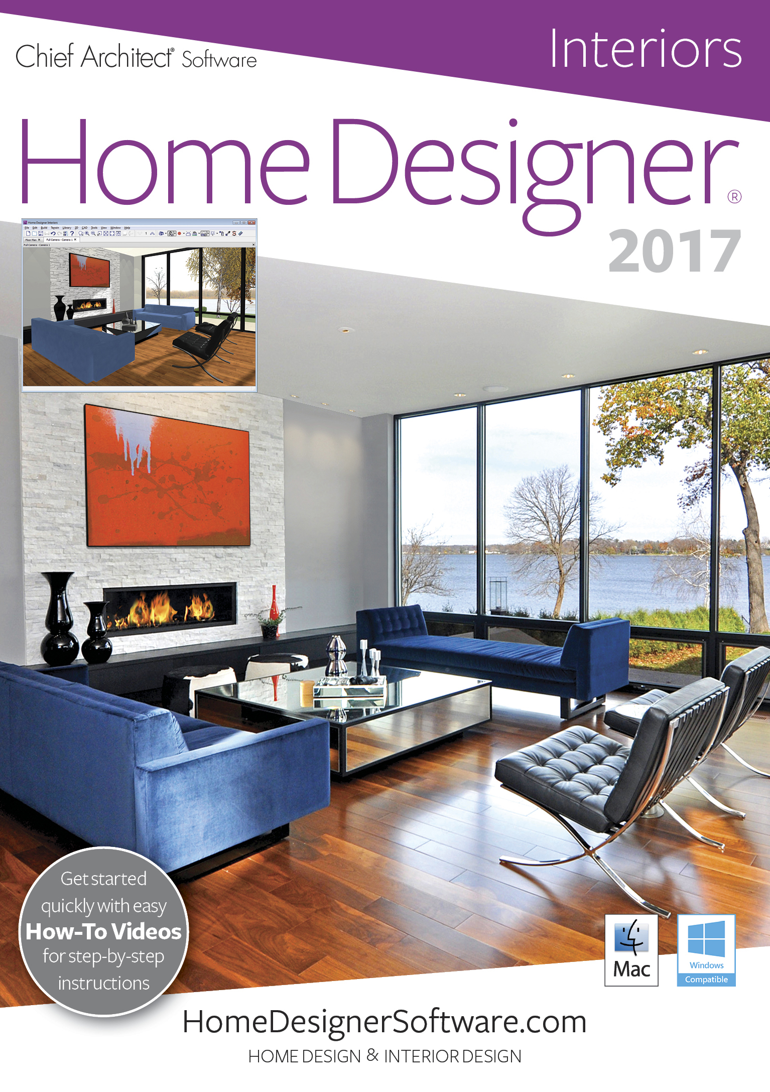 Home Designer Interiors 2017 [Mac] by Chief Architect