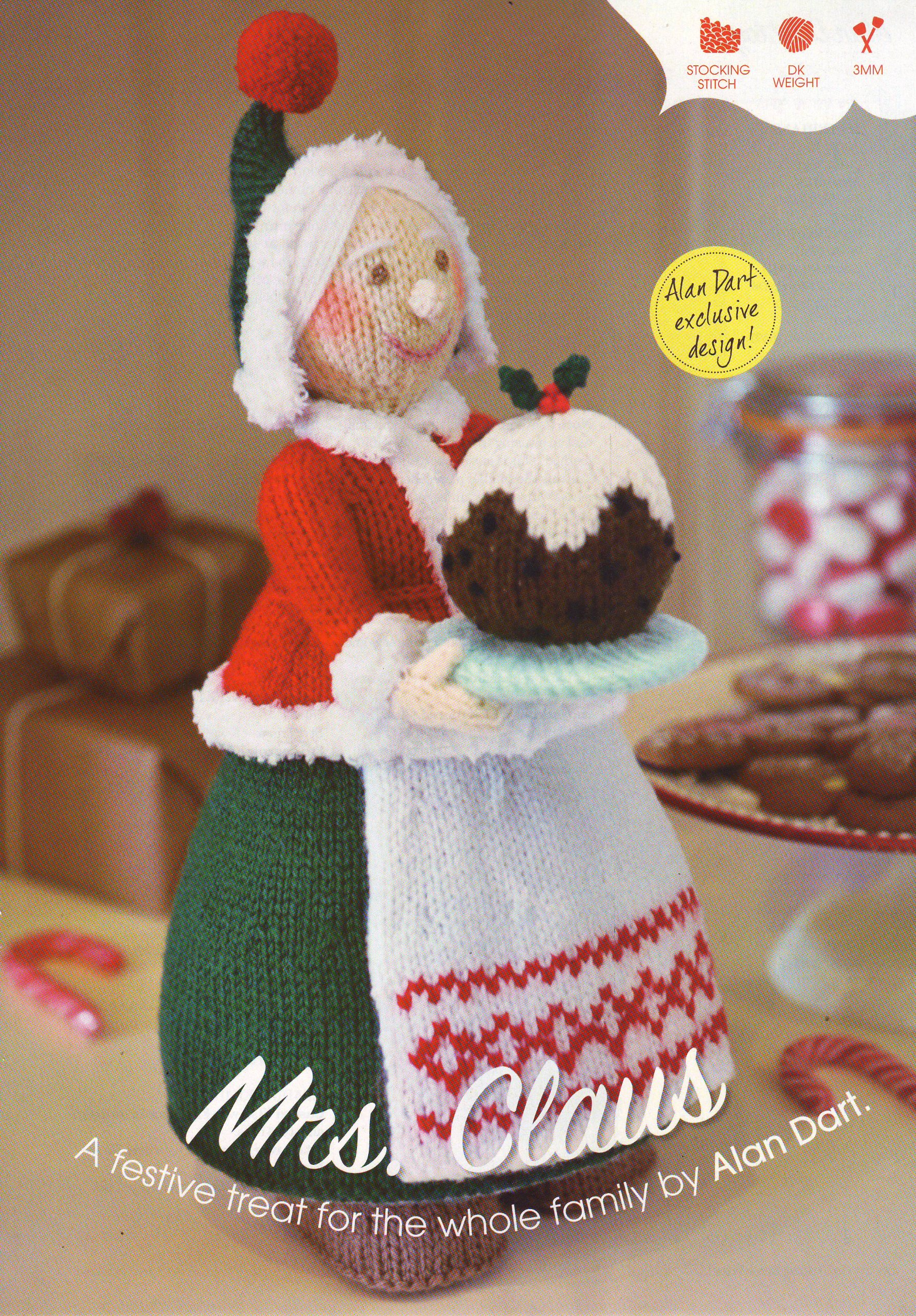 Mrs Christmas (Mrs Claus) Toy by Alan Dart Knitting Pattern ...