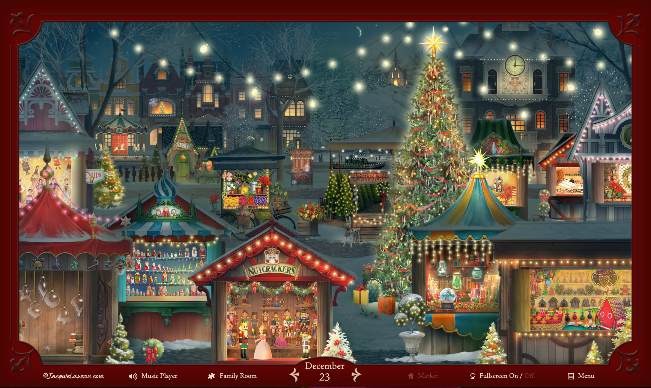 amazoncom jacquie lawson christmas market advent calendar online code software - Jacquie Lawson Halloween Cards