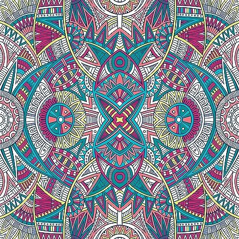 Graffy - Toalla Pareo Doble de Playa Microfibra de 150x150 cm. Mandala Doble Extra Grande