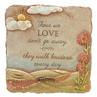 Grasslands Road Those We Love Square Stepping Stone, 10-Inch : Outdoor Decorative Stones : Garden & Outdoor