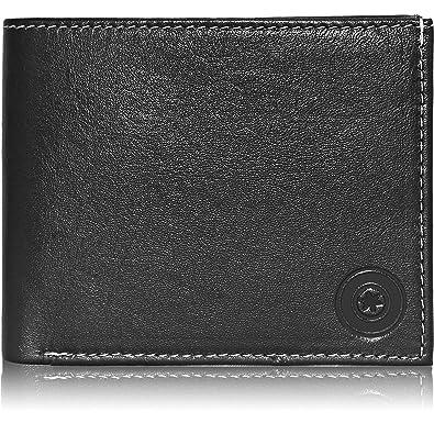 24108502fa36 POLLSTAR Men s Bi-fold Leather Wallet with Flip ID (WL51BK)  Amazon ...