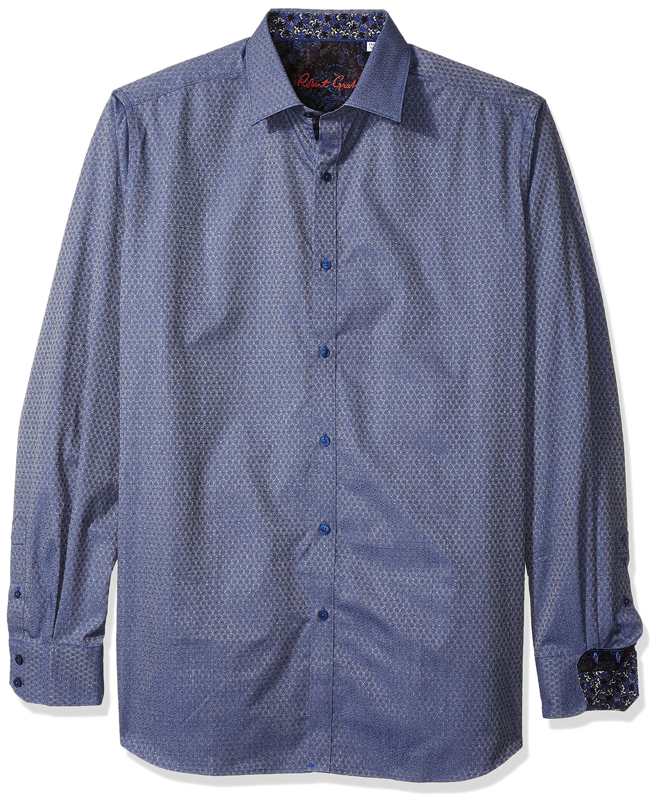 Robert Graham Men's North Creek L/s Classic Fit Shirt, Blue 2XL