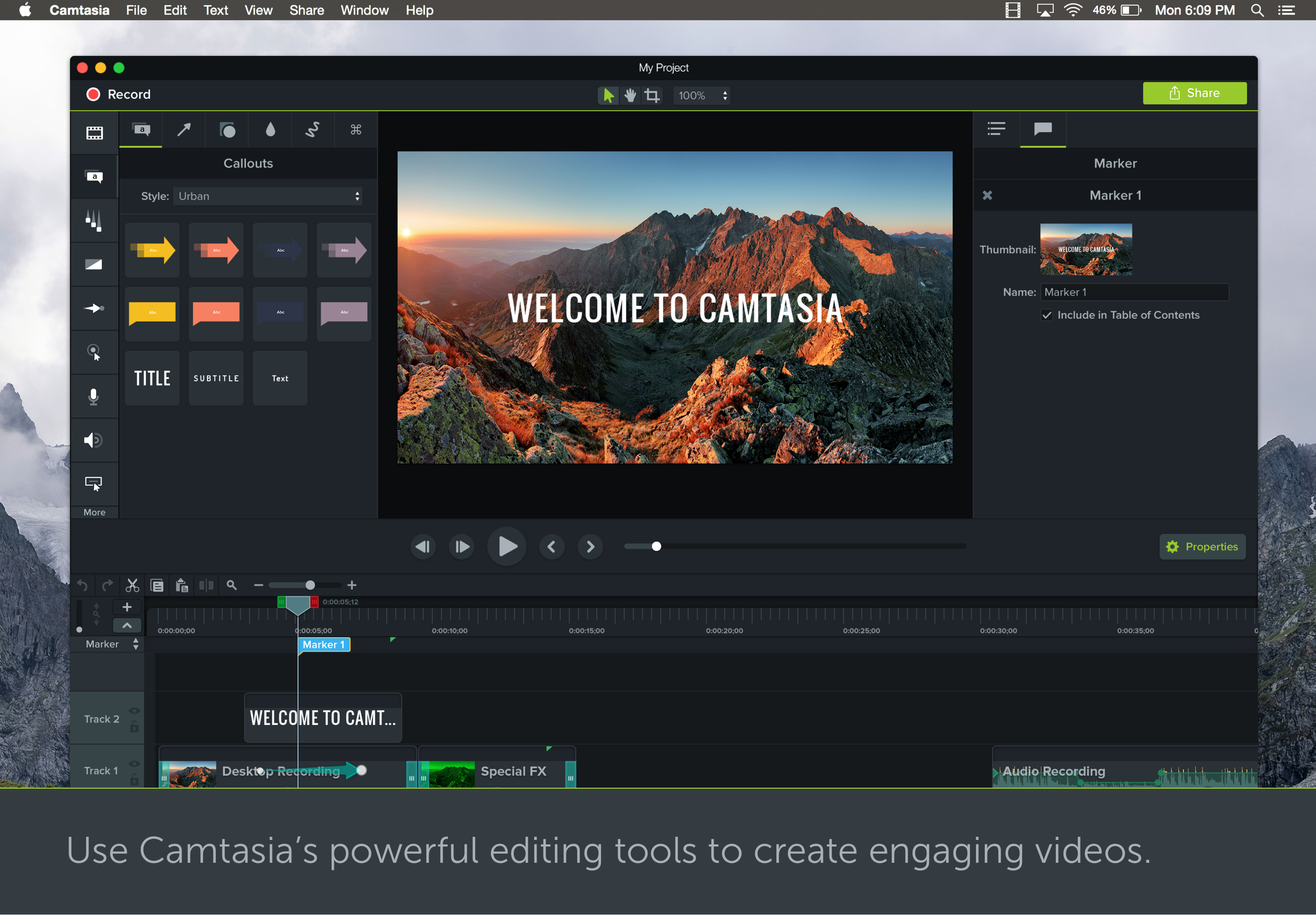 camtasia 2018 features