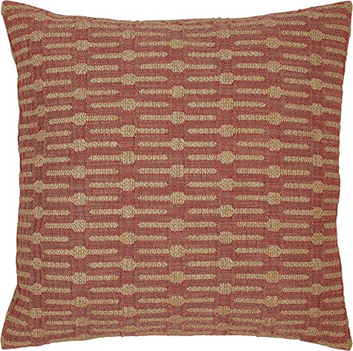 Amazon Brand Stone Beam Mid-Century Modern Geometric Decorative Throw Pillow, 20 x 20 , Brick Red