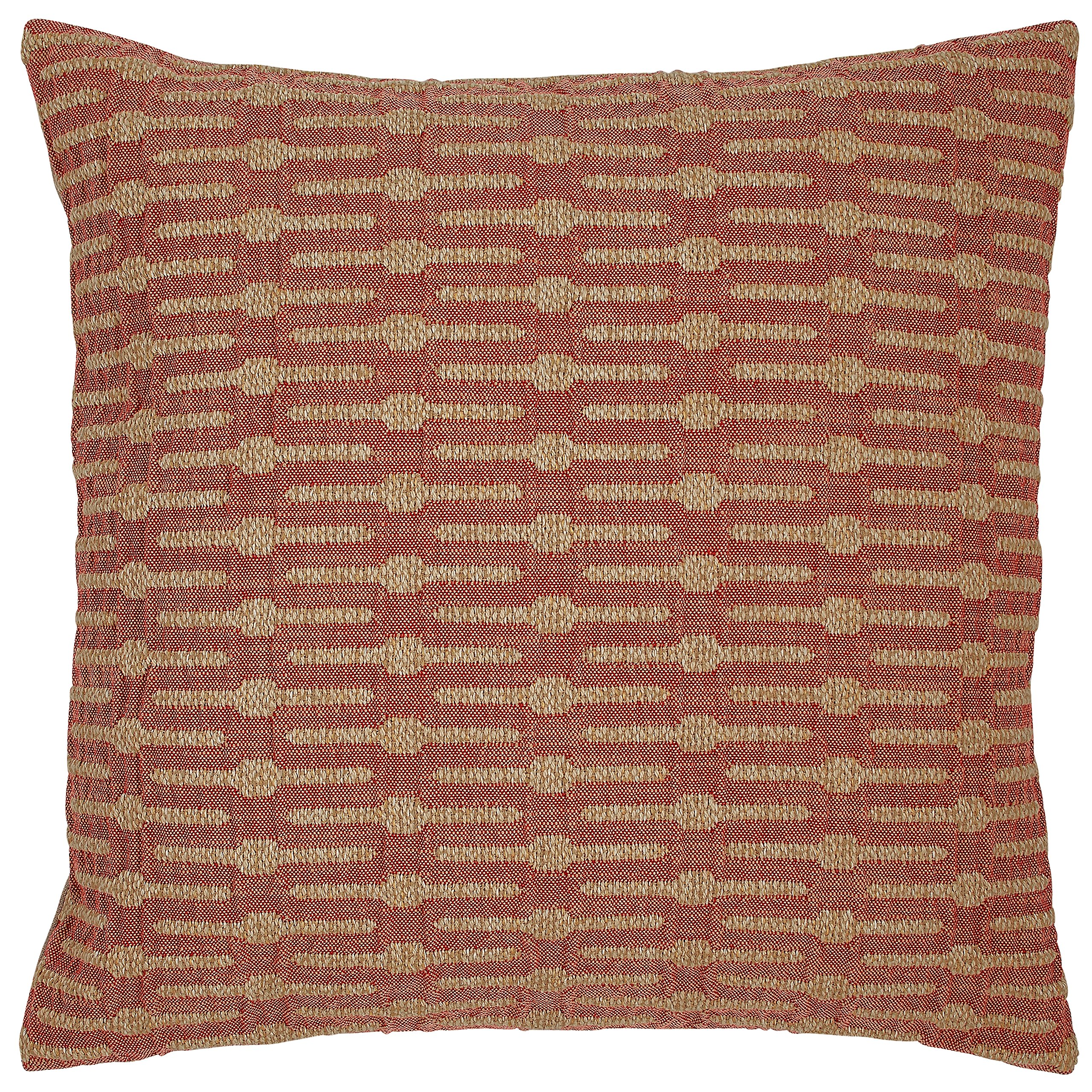 Stone & Beam Mid-Century Modern Geometric Decorative Throw Pillow, 20'' x 20'', Brick Red by Stone & Beam