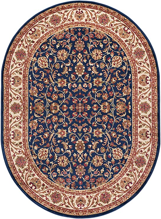 Beautiful image of Ventura 4817 Navy 7x10 Oval