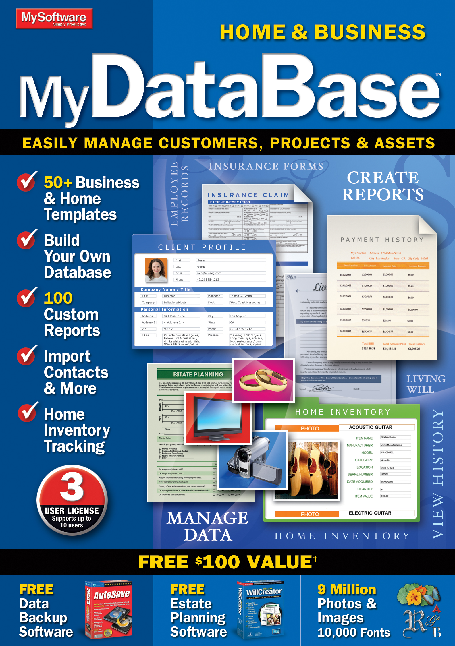 MyDatabase Home and Business [Download] by Avanquest