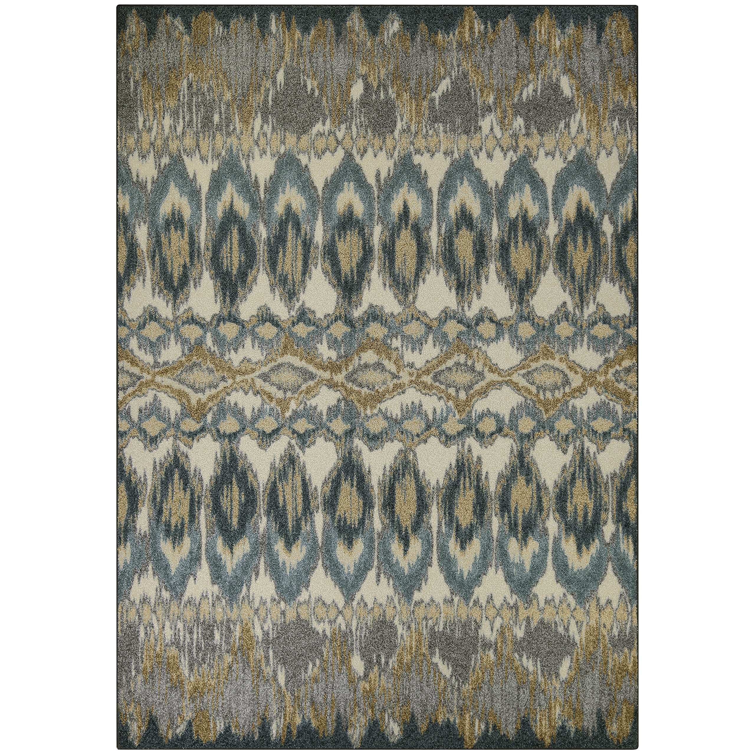 Area Rugs, Maples Rugs [Made in USA][Nessa Artwork Collection] 7' x 10' Non Slip Padded Large Rug for Living Room, Bedroom, and Dining Room by Maples Rugs