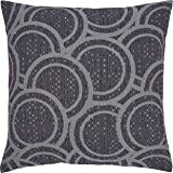 Amazon Brand – Rivet Abstract Pattern Throw Pillow Cover - 20 x 20 Inch, Grey
