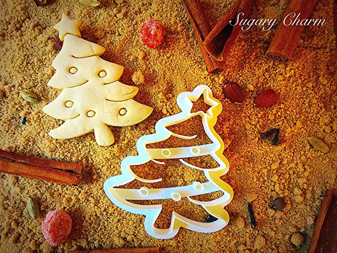 Triangle Christmas Tree Cookie Cutter Xmas Shaped Family Cookies Embossed 4in Mold Unique Biscuit Cutters By Sugary Charm Tiny Eco Friendly