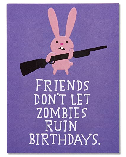 Amazon american greetings funny zombie birthday card with american greetings funny zombie birthday card with embossing m4hsunfo