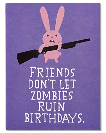 Amazon american greetings funny zombie birthday card with american greetings funny zombie birthday card with embossing 5760251 bookmarktalkfo Images