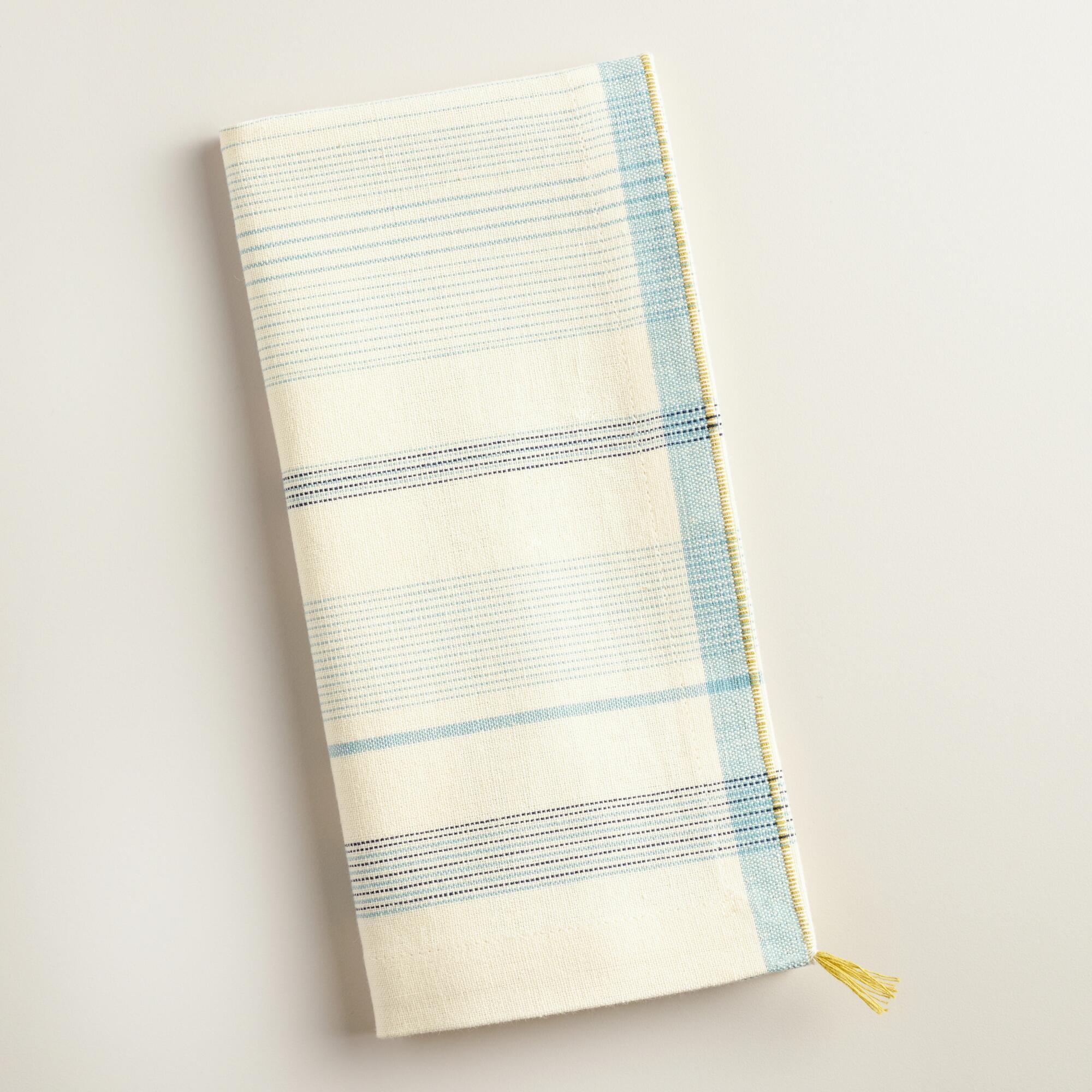 Blue and White Striped Napkins Set of 4 | World Market