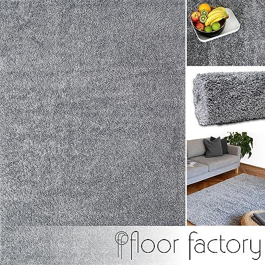 27 opinioni per Tappeto moderno Colors grigio argento 200x200cm- tappeto shaggy pelo lungo super