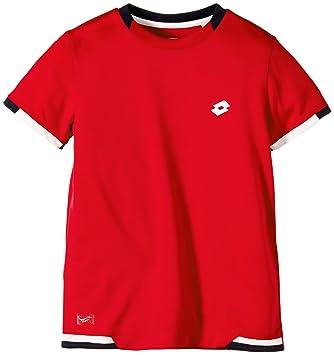 Lotto Sport T-Shirt Kurzarm Lob B - Camiseta de tenis para niño, color multicolor, talla L: Amazon.es: Deportes y aire libre