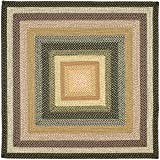 Safavieh Braided Collection BRD308A Hand Woven Blue and Multi Square Area Rug