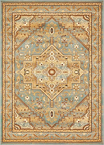 Well Woven Barclay Kaibab Traditional Rug, 7 10 x 9 10 , Light Blue