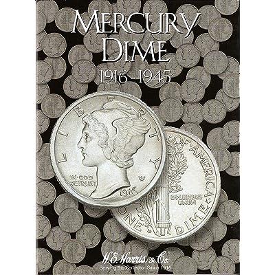 Mercury Dime 1916-1945 Cardboard Coin Folder: Toys & Games