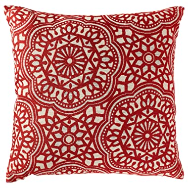 Stone & Beam Medallion Pillow, 17  x 17 , Henna