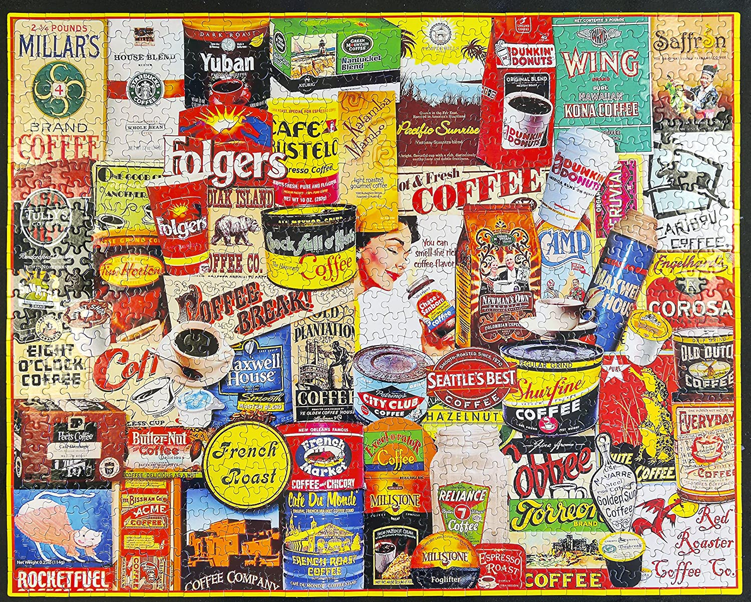Amazon.com: WHITE MOUNTAIN Puzzles - Great Coffee Brands - 1,000 Piece  Jigsaw Puzzle: Toys & Games