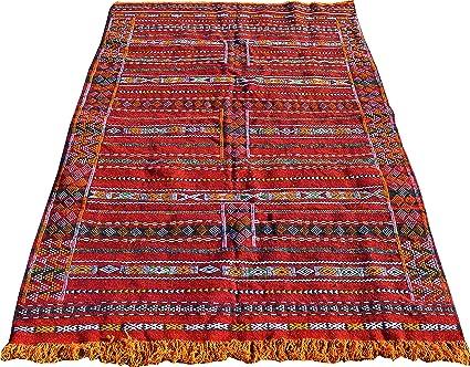 Tappeti Kilim Marocco : Maison andaluz grande marocchino hand made red kilim runner lana